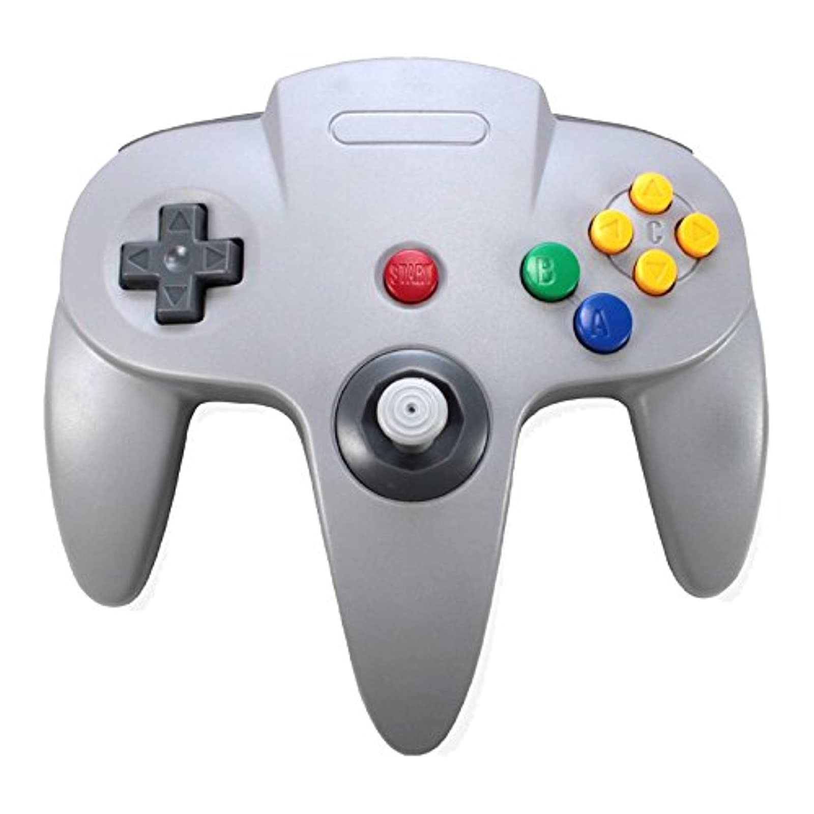 3rd Party Nintendo 64 N64 Classic Controller Gray