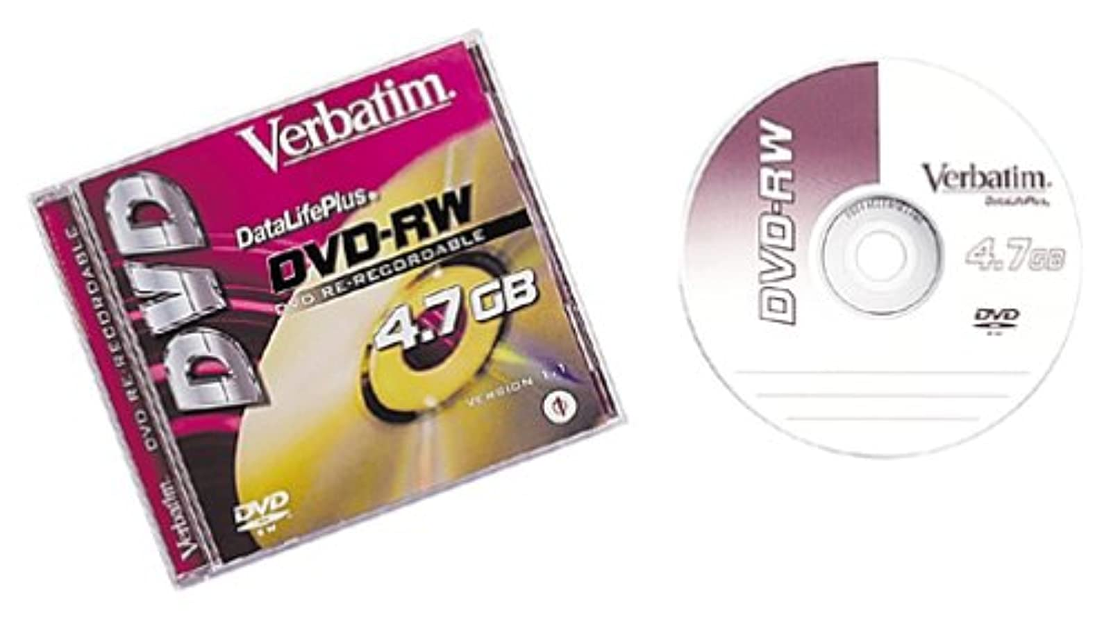 1-pack DVD-RW 4.7GB Lot Of 1
