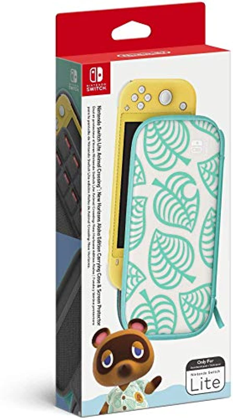 Animal Crossing: New Horizons Aloha Edition Carrying Case And Screen Protector L
