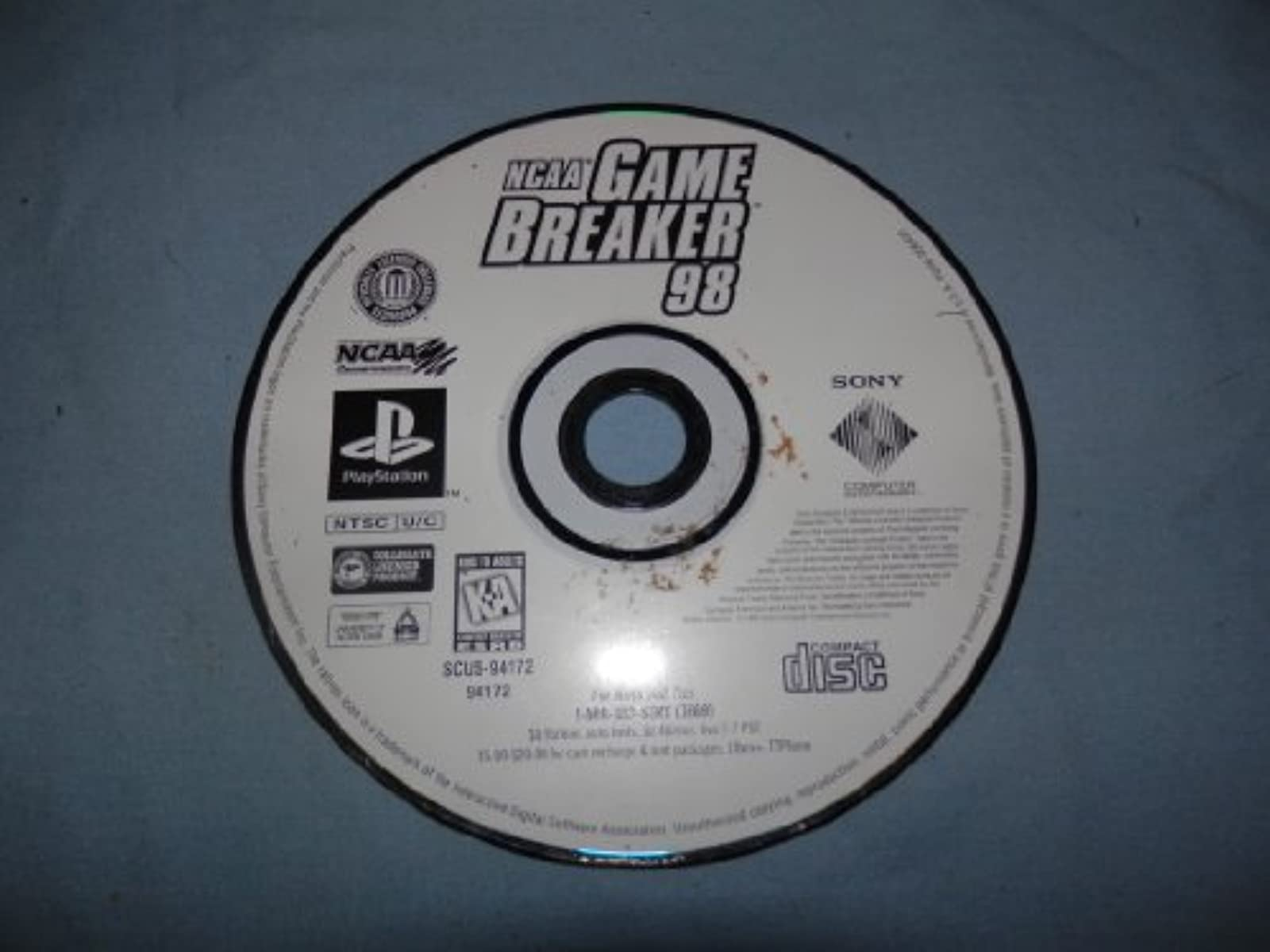 NCAA Gamebreaker '98 Sony PS1 Psx Game For PlayStation 1