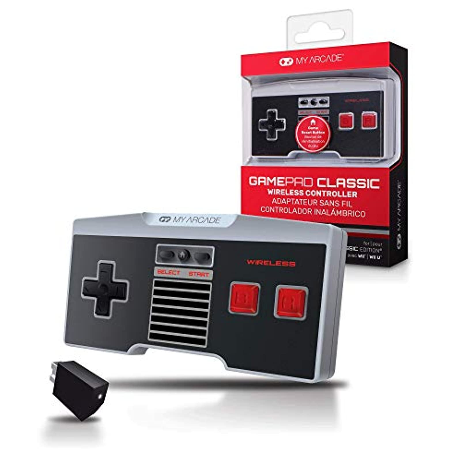 My Arcade Gamepad Classic Wireless Game Controller Compatible With Nintendo NES