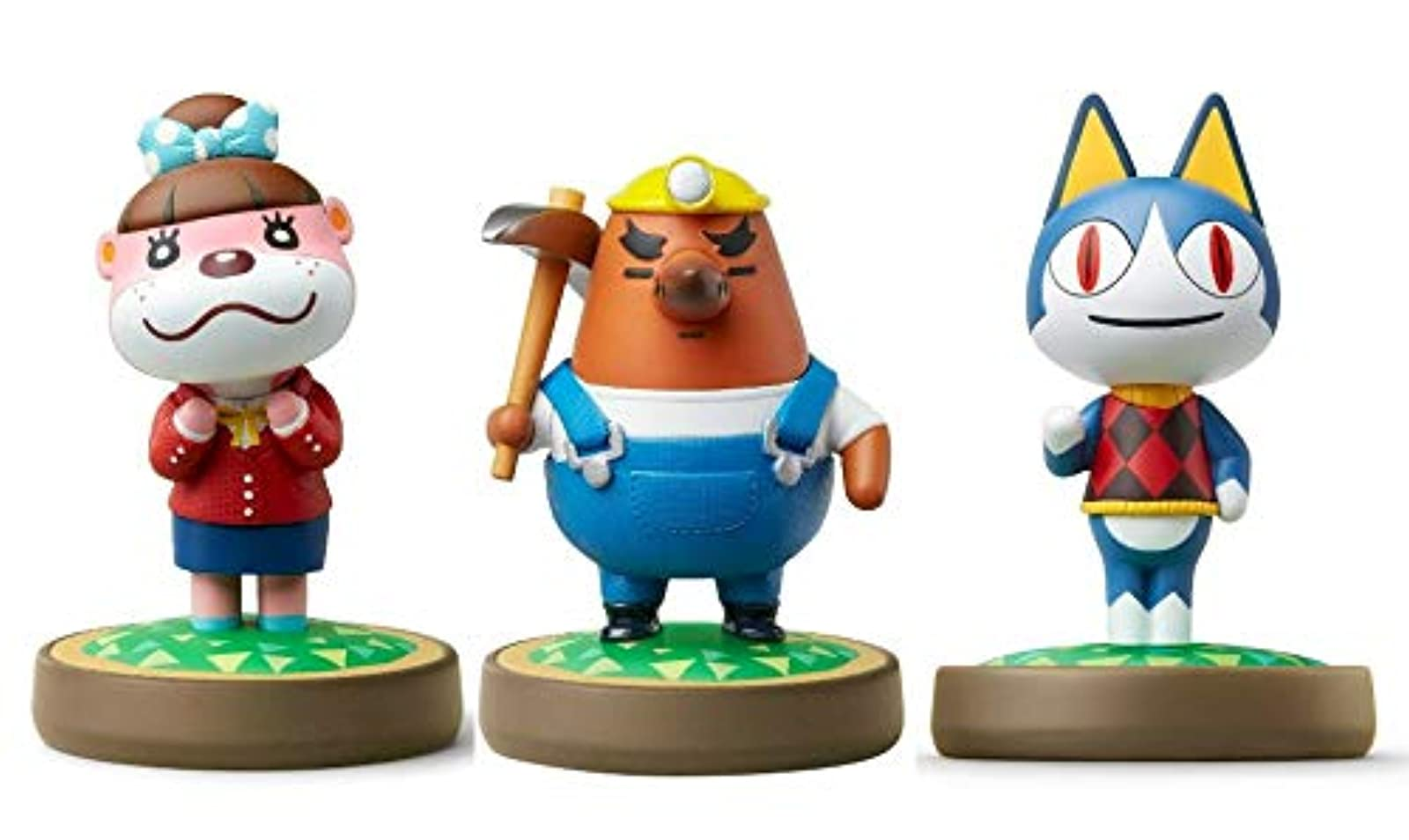 Amiibo 3 Pack Set Rover Mr Resetti Lottie Animal Crossing Series For Nintendo Sw
