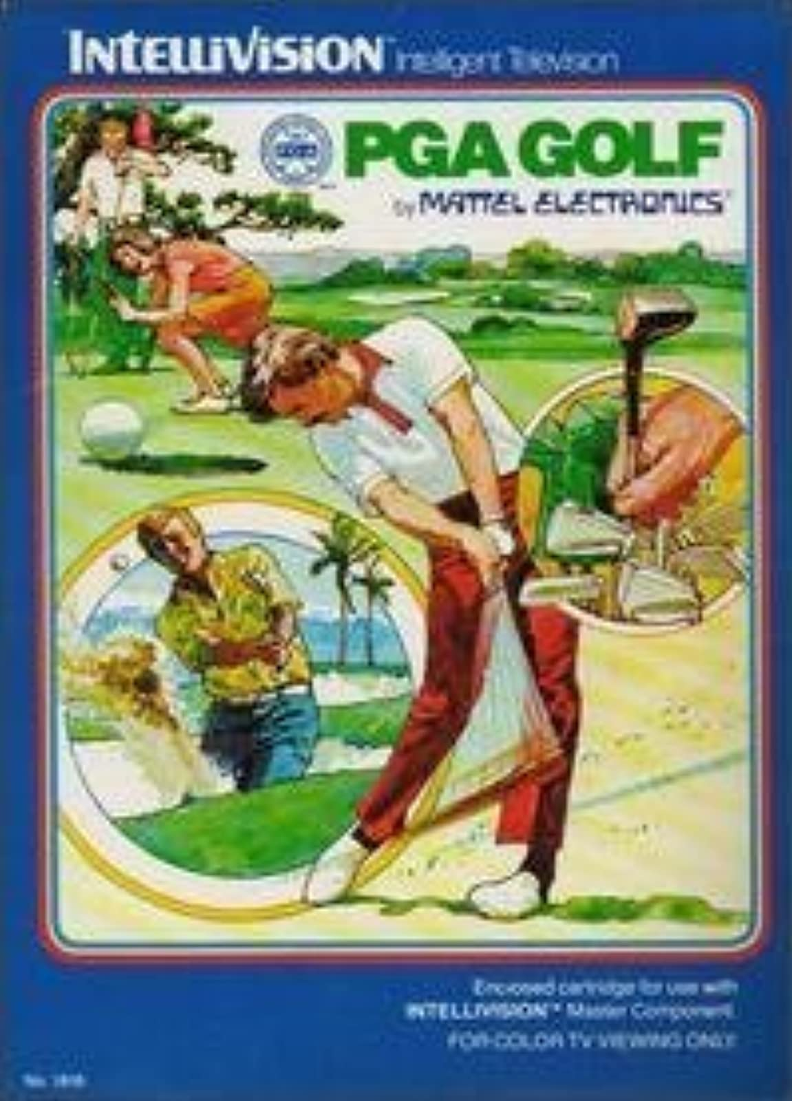 PGA Golf For Intellivision With Manual And Case