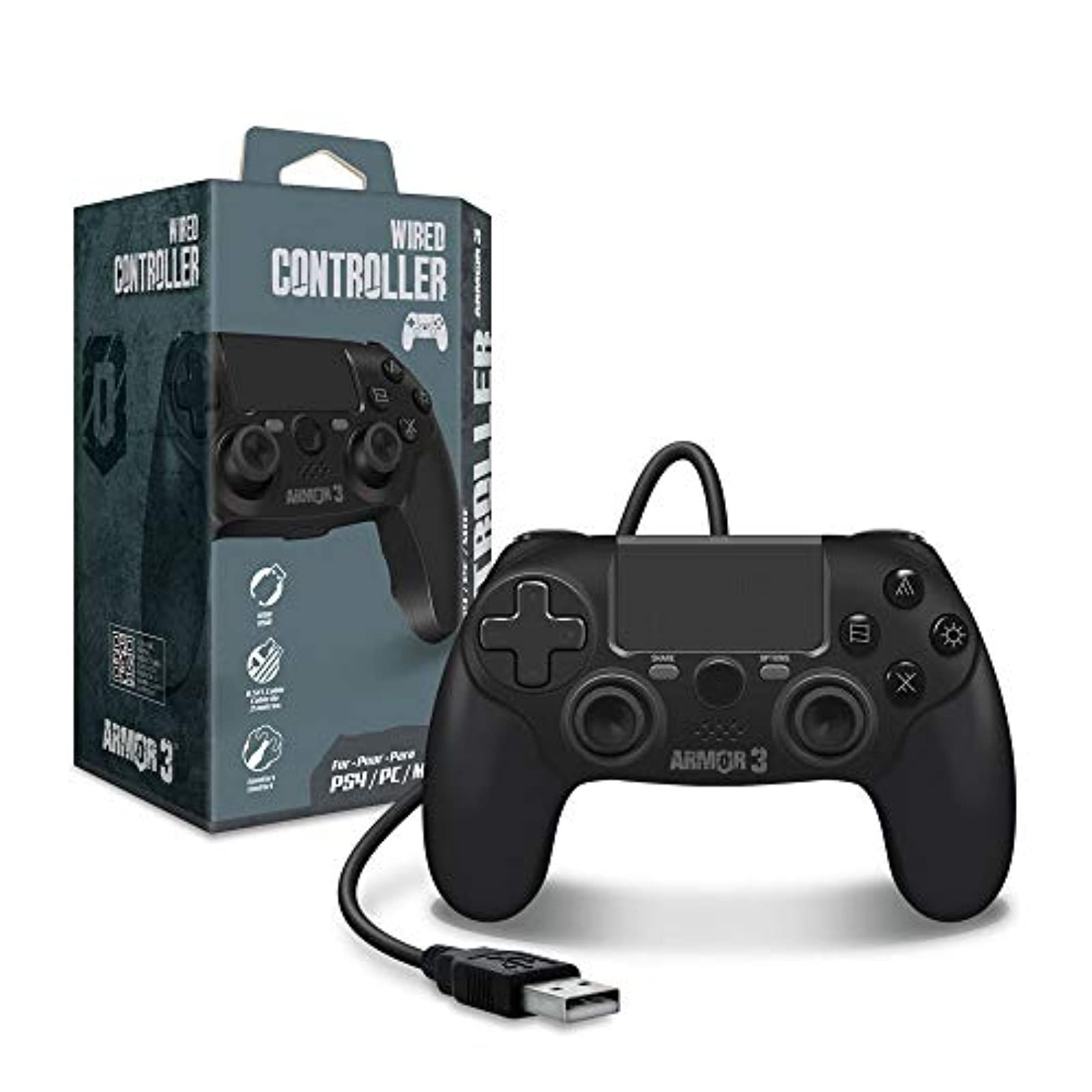 Armor 3 Wired Game Controller For PS4 PC MAC For PlayStation 4