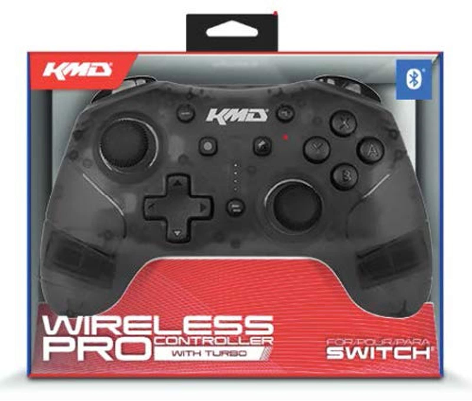KMD Switch Wireless Pro Controller Clear Black For Nintendo Switch