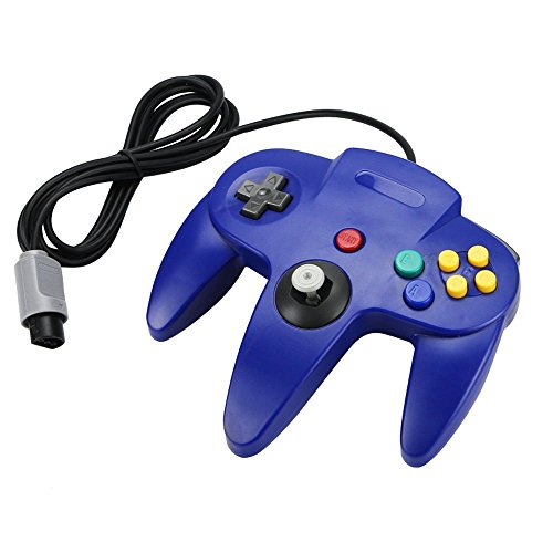 Blue Long Handle Controller Pad For Nintendo 64 System For N64