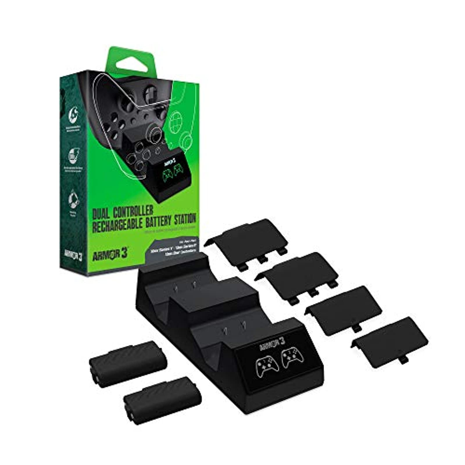 Armor3 Dual Controller Rechargeable Battery Station Xbox Series X And Xbox One