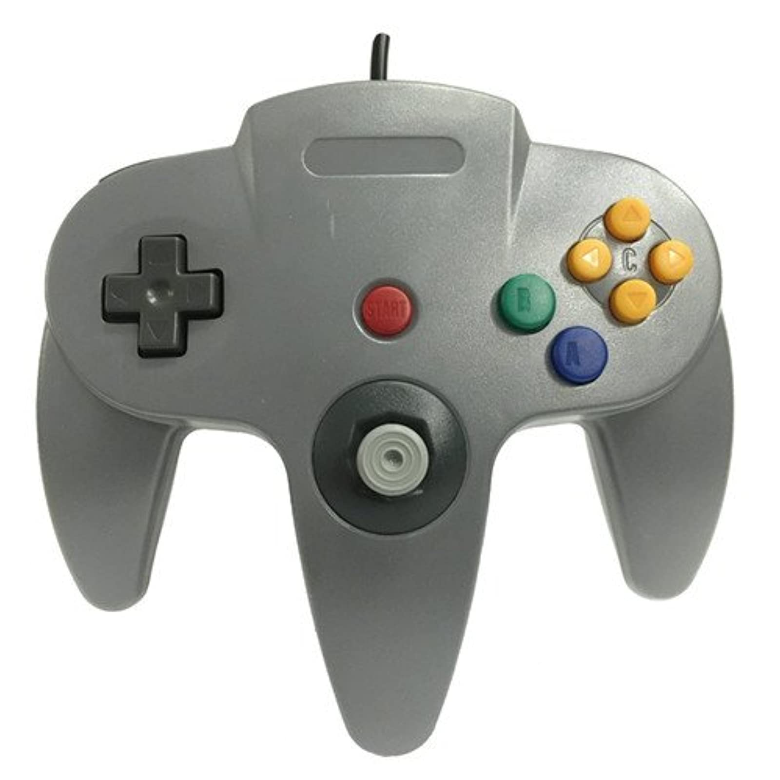 Generic Wired Game Controller For N64 Color Gray