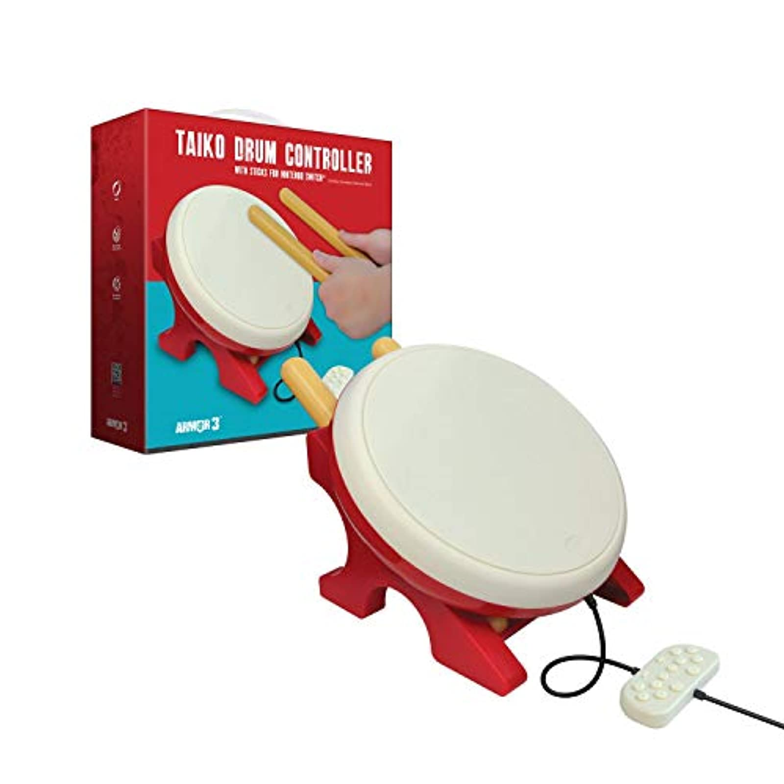 Armor3 Taiko Drum Controller With Sticks For Nintendo Switch Nintendo Switch