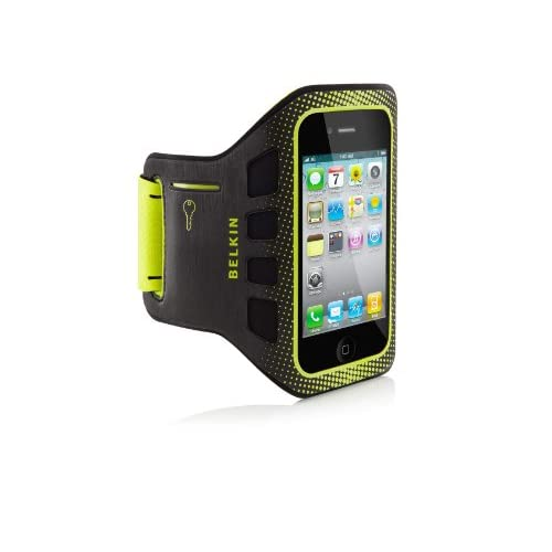 Image 3 of Belkin Easefit Sport Armband For Apple iPhone 4/4S Black / Limelight