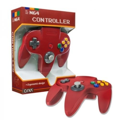 Controller For Nintendo 64 Red Joypad In Box For N64
