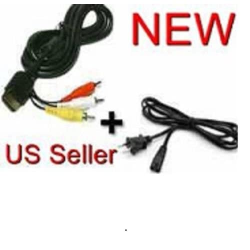 AC Power Cord & AV Audio Video Cable For Sega Dreamcast
