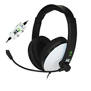 Turtle Beach Ear Force XL1 Amplified Wired Headset With Mic White For Xbox 360