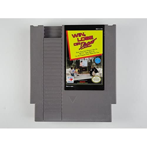 Win Lose Or Draw For Nintendo NES Vintage Puzzle
