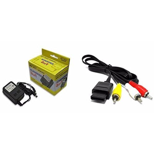 AC Adapter For Super Nintendo Super Nintendo AV Cable Bundle SNES
