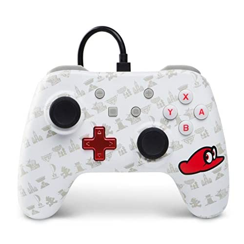 BD&A Mario Odyssey Wired Controller White For Nintendo Switch