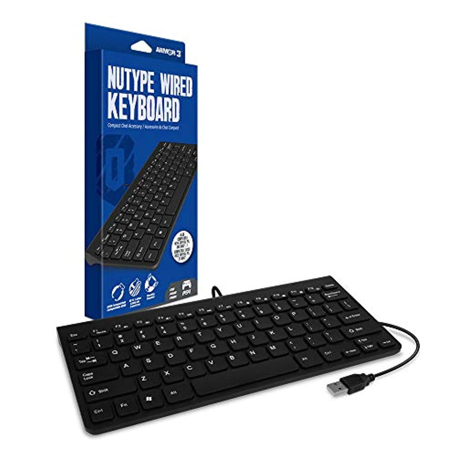 Armor3 Nutype Wired Keyboard For PS4 For PlayStation 4