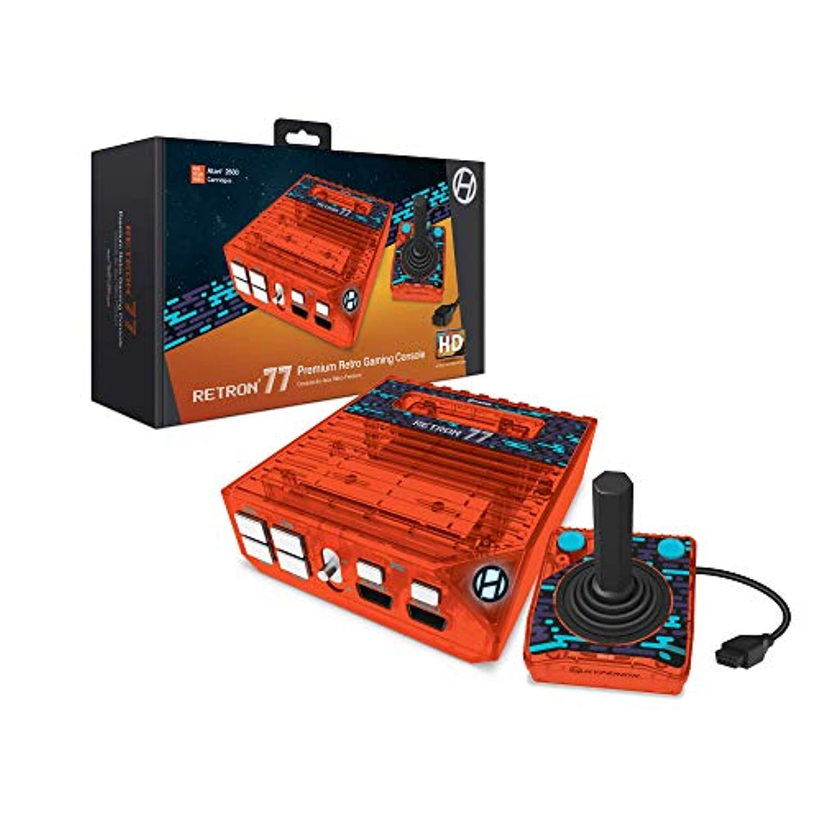 Hyperkin Retron 77: HD Gaming Console For Atari 2600 Retro Amber Not