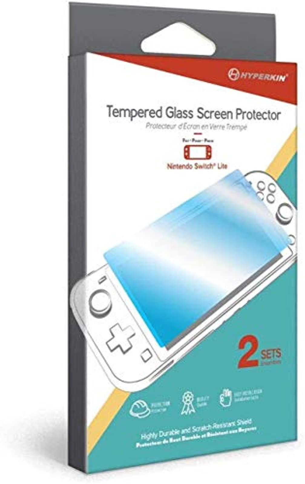 Hyperkin Tempered Glass Screen Protector For Nintendo Switch Lite 2-SETS