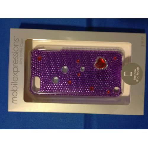 Crystal iPod Touch Case Purple/red ME2018 For The iPod Cover Fitted