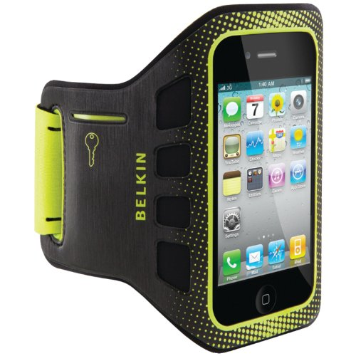 Image 0 of Belkin Easefit Sport Armband For Apple iPhone 4/4S Black / Limelight
