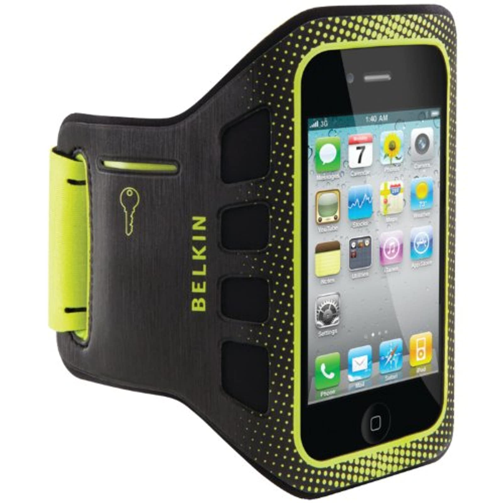Belkin Easefit Sport Armband For Apple iPhone 4/4S Black / Limelight Multi-Color
