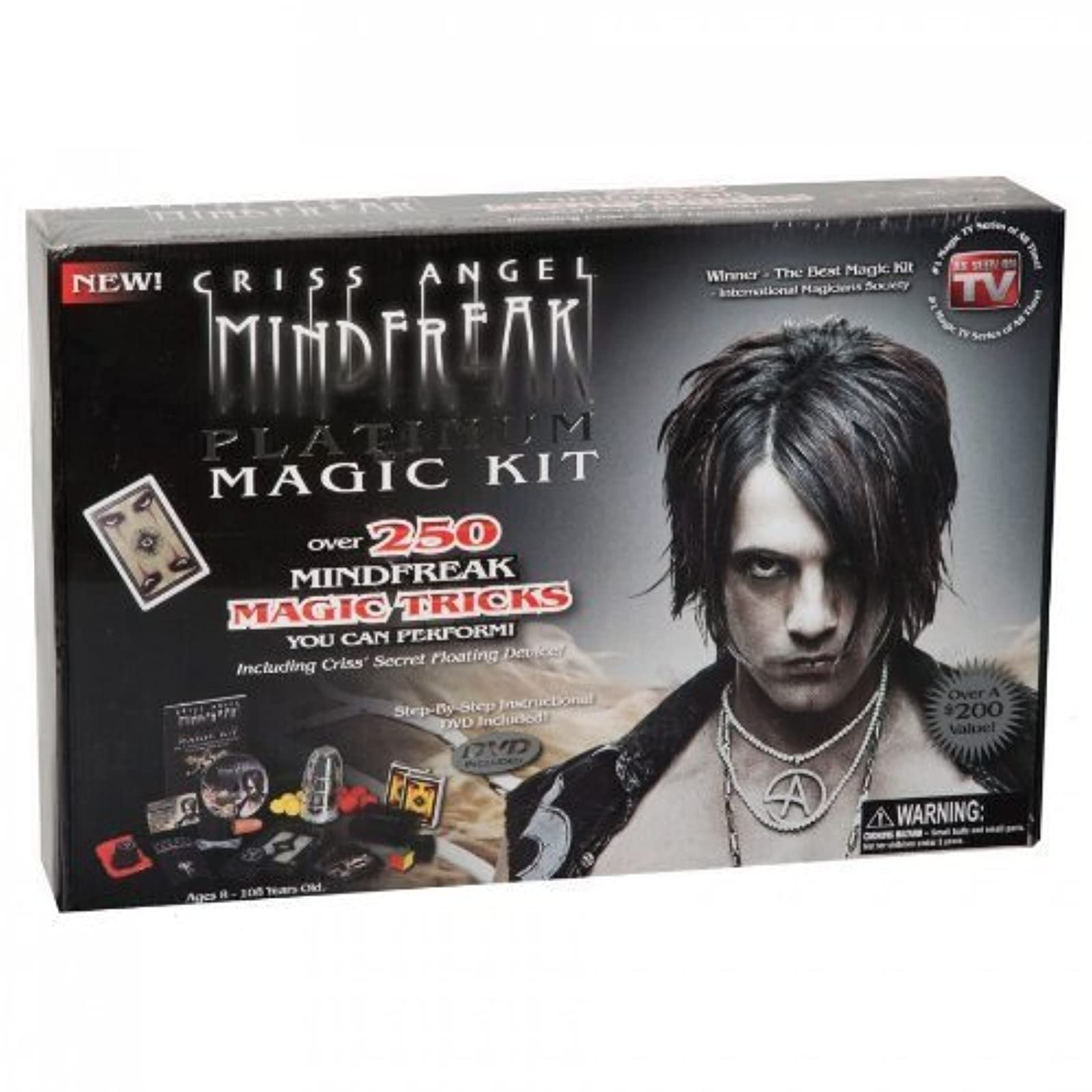 Criss Angel Mindfreak Platinum Magic Kit Magician Show Set 250 Tricks And DVD To