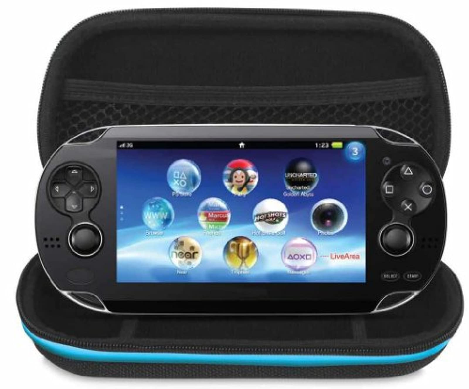 Dreamgear Case Only For PlayStation Vita Model PCH-1000 For Ps Vita Black DGPSV-
