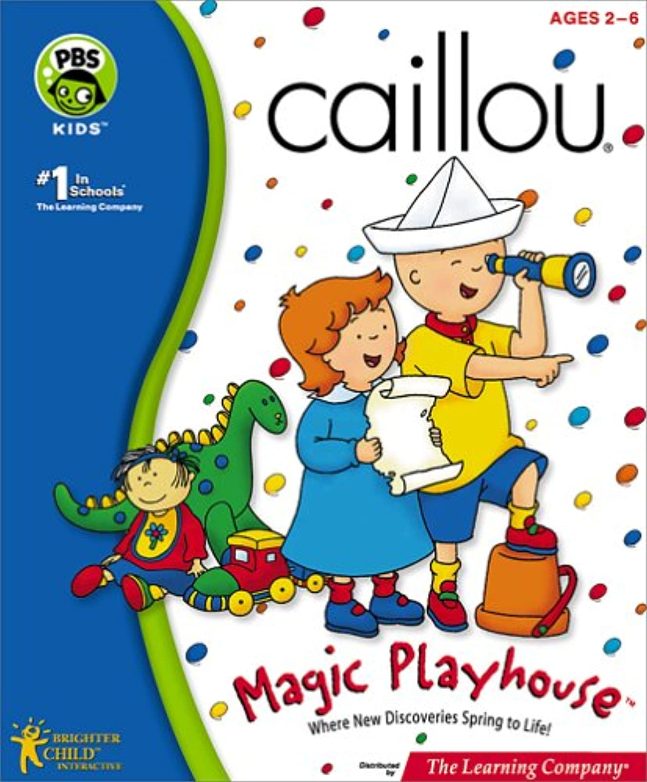 Caillou Magic Playhouse PC Software Children