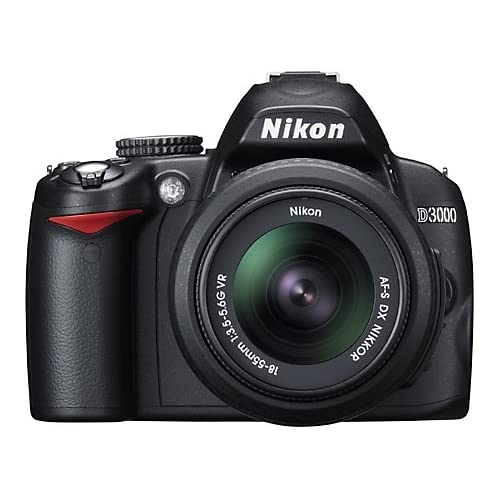 Nikon D3000 10.2MP Digital SLR Camera With 18-55MM F/3.5-5.6G Af-S DX VR Nikkor