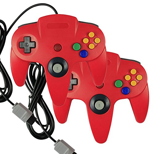 2 X Game Gaming Pad Console Controllers For Nintendo 64 N64