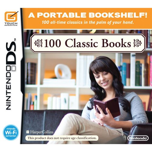 100 Classic Books For Nintendo DS DSi 3DS 2DS