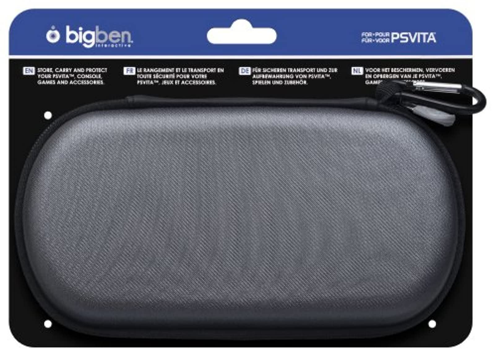 Bigben Fabric Pouch For PlayStation Vita Gray For Ps Vita Grey