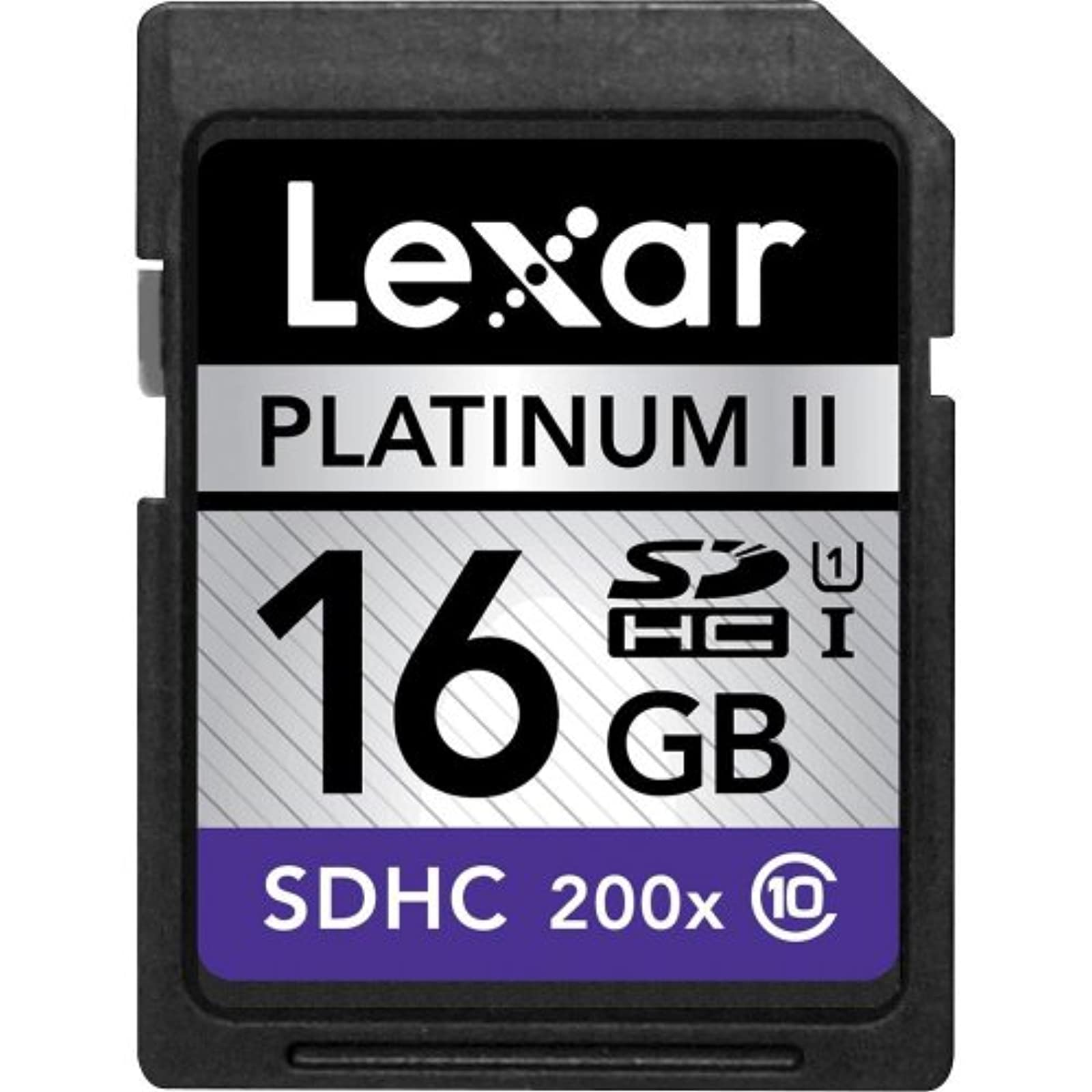 Lexar Media 16GB Platinum II 200X SDHC Memory Card