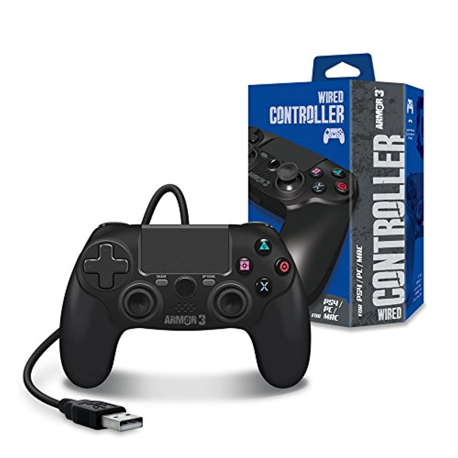 ARMOR3 Wired Game Controller For PS4/ PC/ MAC For PlayStation 4