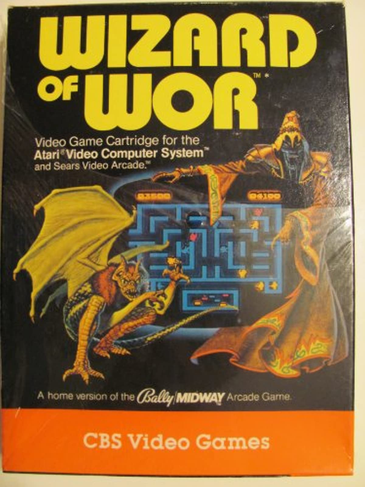 Wizard Of Wor For Atari Vintage