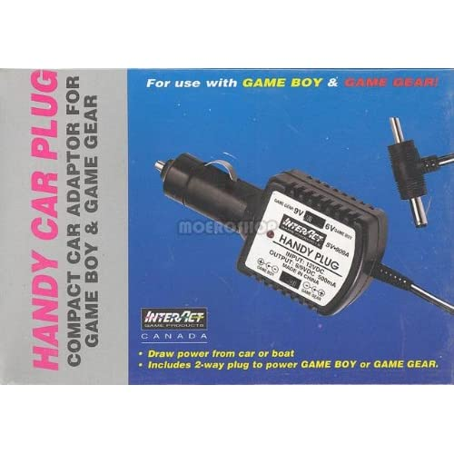 Interact Accessories Color Car Adapter On Gameboy Wall Power Charger
