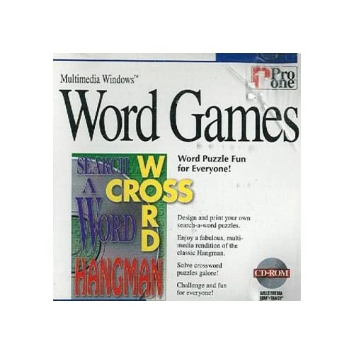 Cd-Rom Word Games By Pro One For Multimedia Windows 3.1 95 Or Higher