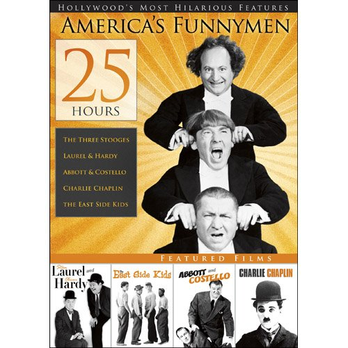 25-HOURS Of America's Funnymen V.1 On DVD With Charlie Chaplin Comedy
