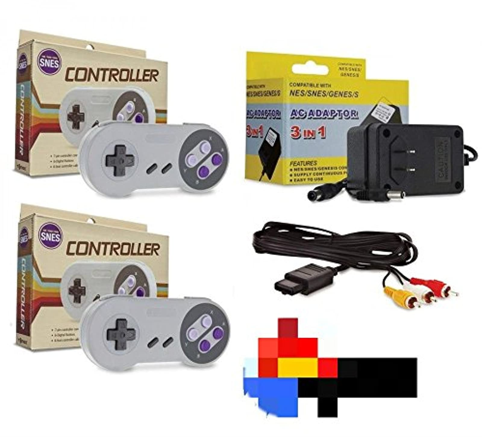 SNES Bundle 2 Controllers AC Adapter Power Cord And AV Cable Super Nintendo
