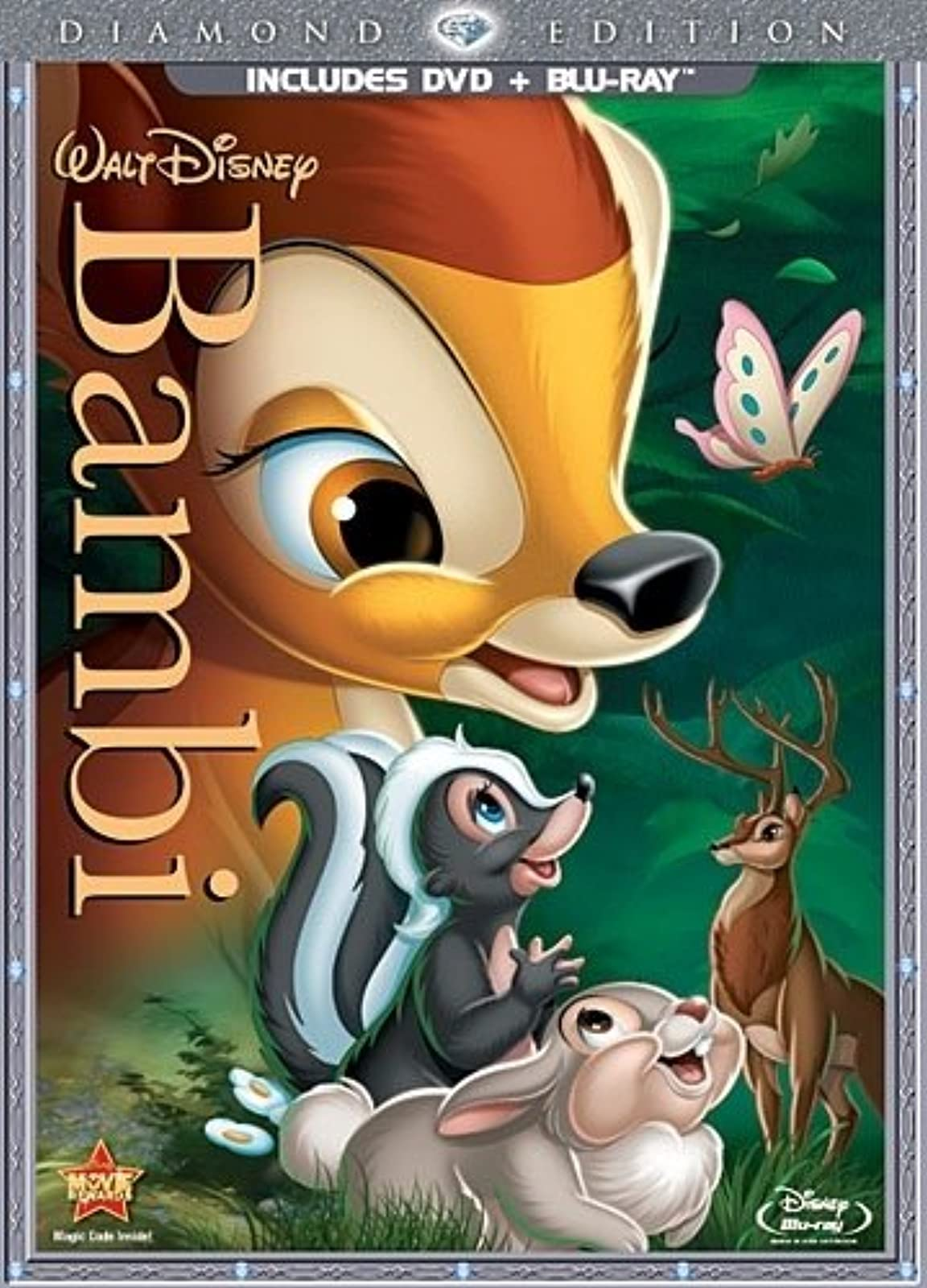 Bambi Two-Disc Diamond Edition Blu-Ray/dvd Combo In DVD Packaging With Hardy Alb