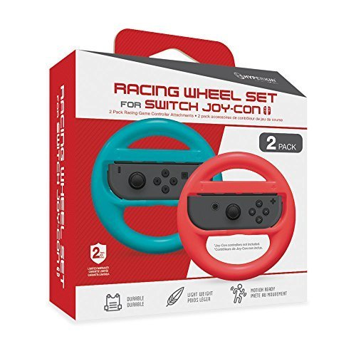Hyperkin Racing Wheel Set For Joy-Con Blue/ Red 2-pack For Nintendo Switch