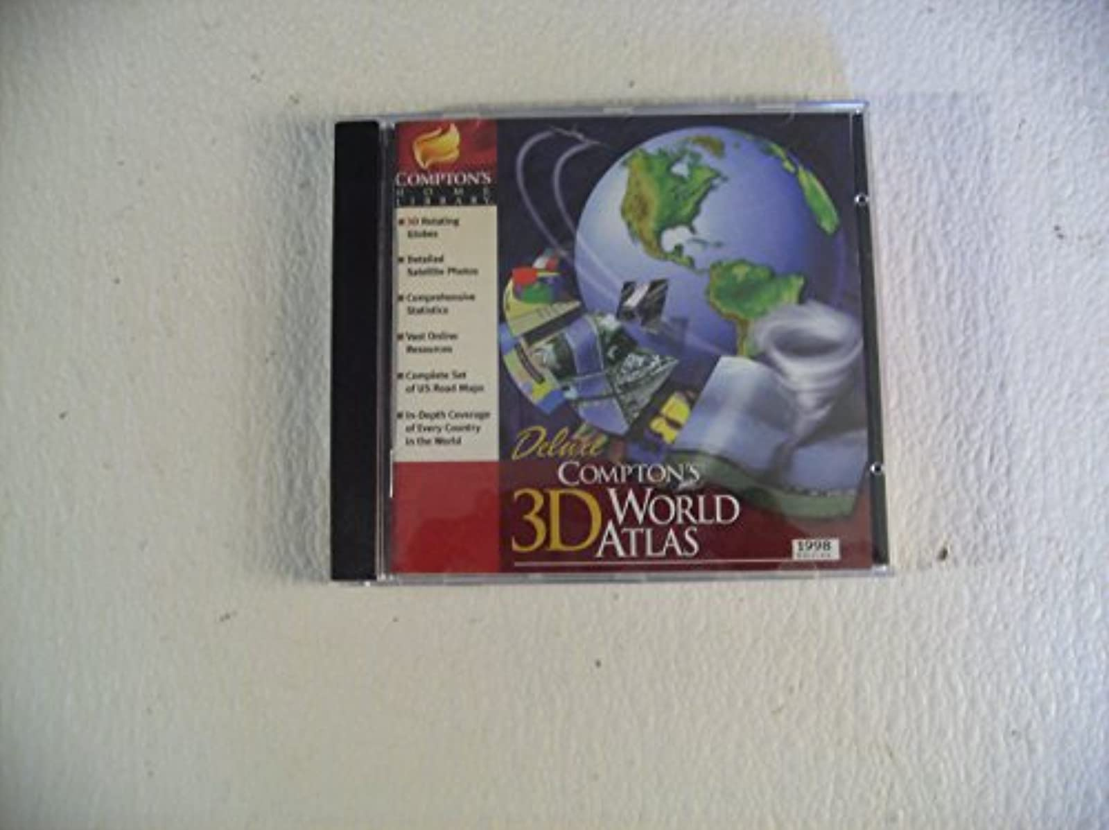 Deluxe Compton's 3D World Atlas Cd-Rom 1998 Edition Version 3.2