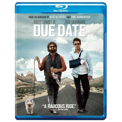 Due Date Blu-Ray On Blu-Ray With Robert Downey Jr