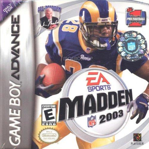 Madden NFL 2003 For GBA Gameboy Advance Football