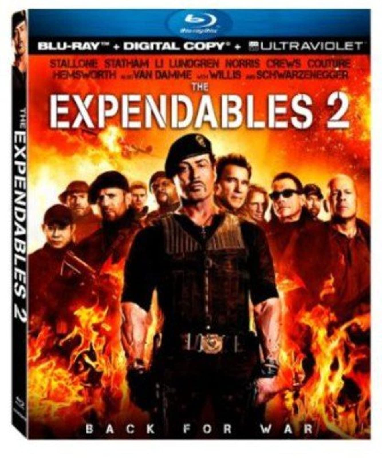 The Expendables 2 Ultraviolet On Blu-Ray With Sylvester Stallone