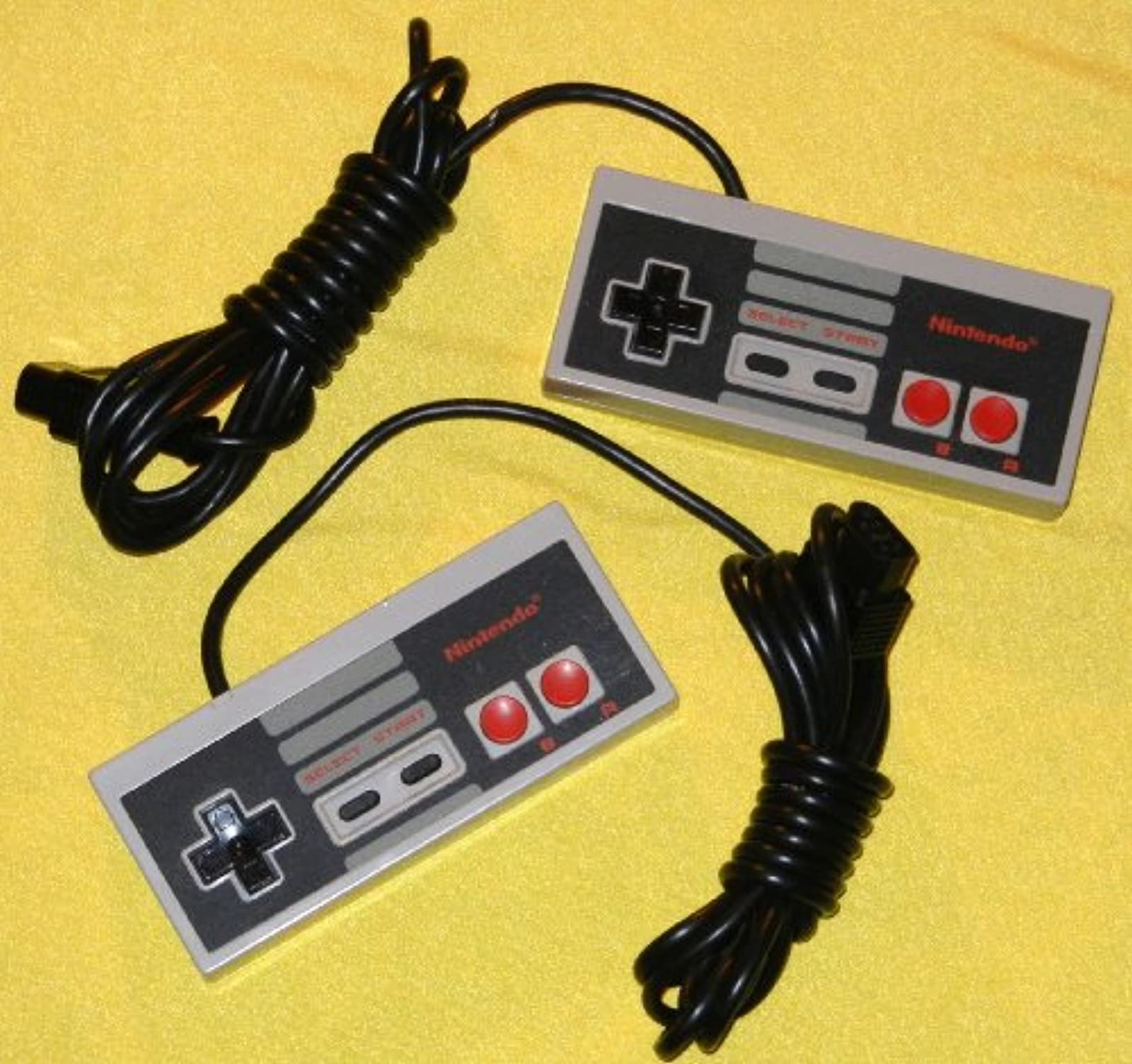 NES Controller Pair 2 Two Nintendo OEM Original 1985