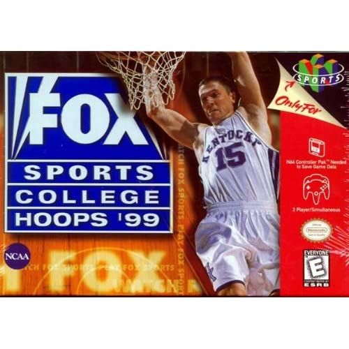 Fox Sports College Hoops '99 For N64 Nintendo