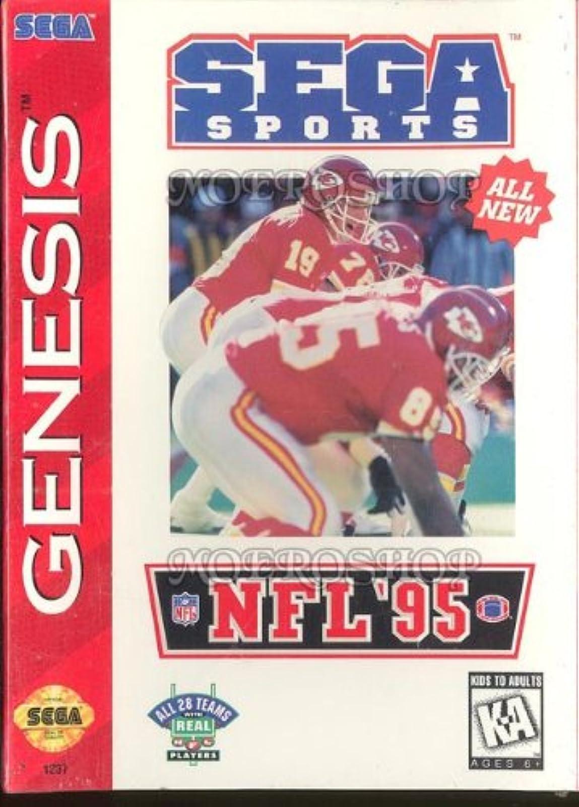 NFL '95 For Sega Genesis Vintage Football
