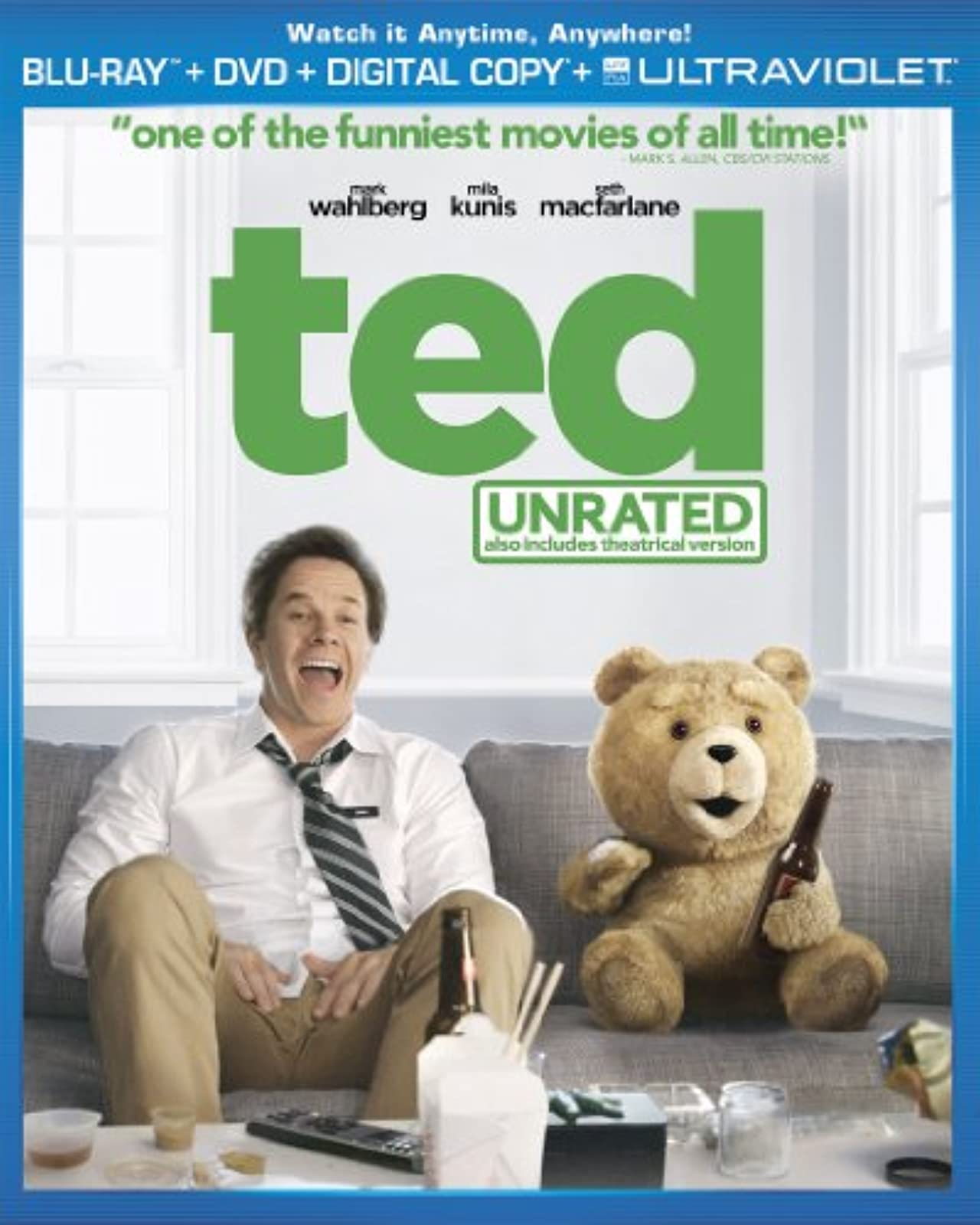 Ted Blu-Ray On Blu-Ray With Mark Wahlberg Comedy